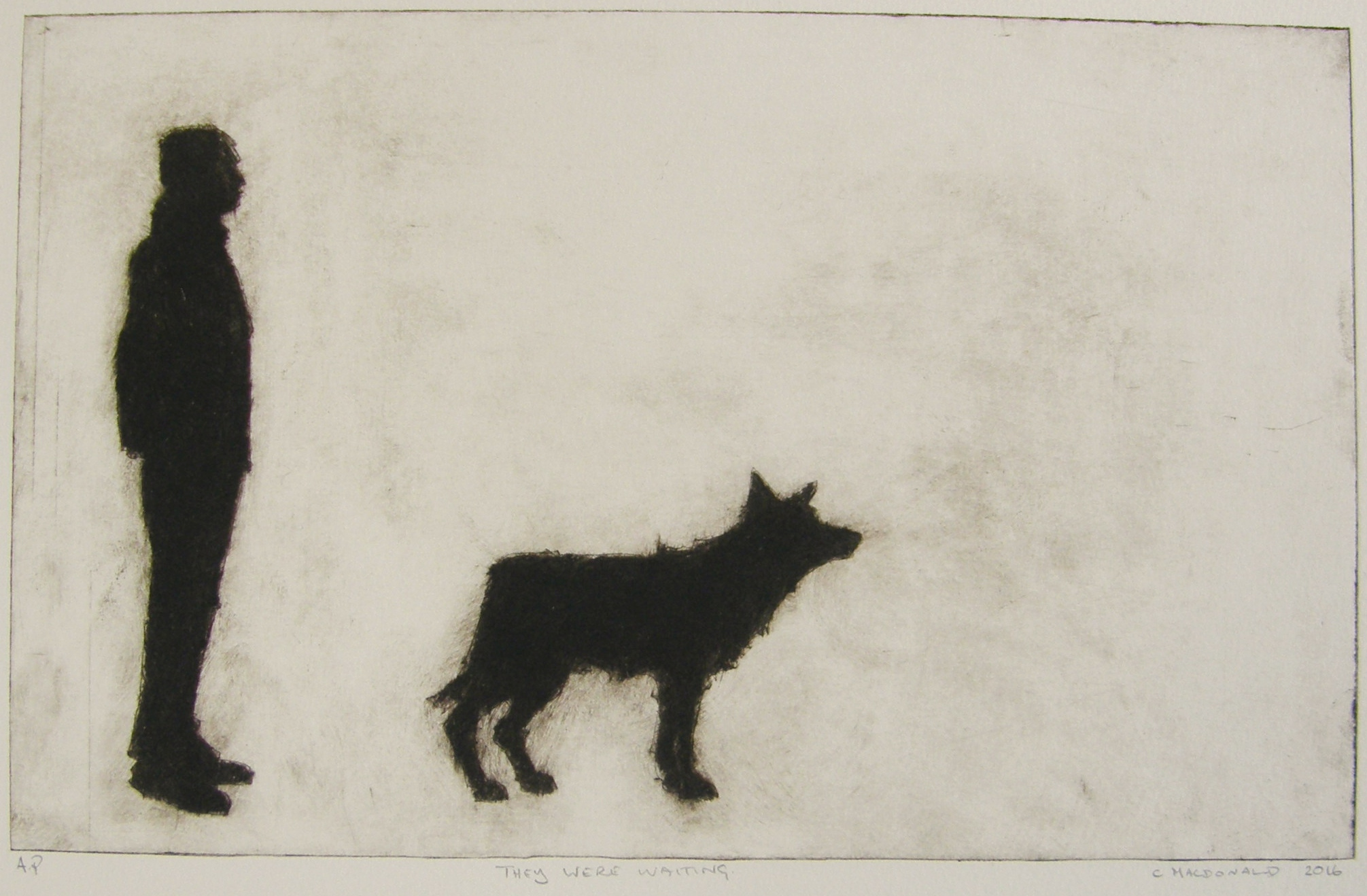 they were waiting - 2016 - drypoint